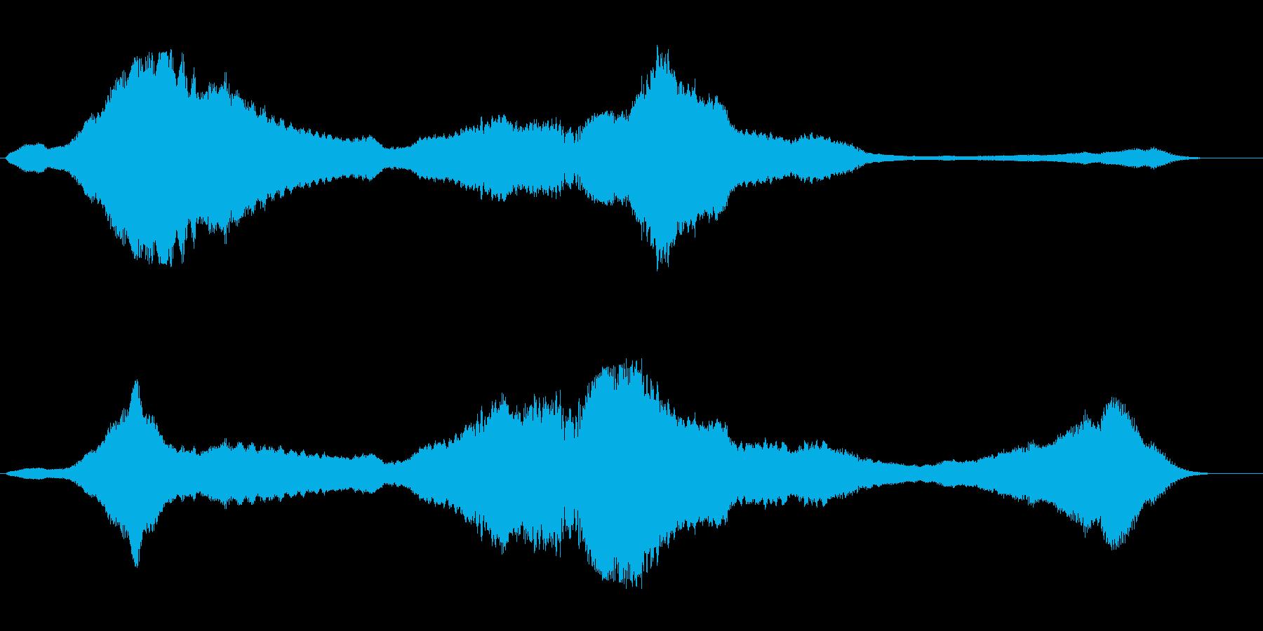 ヒューンヒューン(UFOが浮遊する音)の再生済みの波形