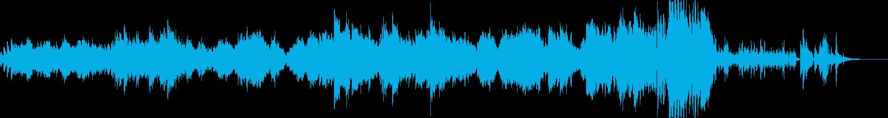 温かみのあるバラード ピアノソロの再生済みの波形