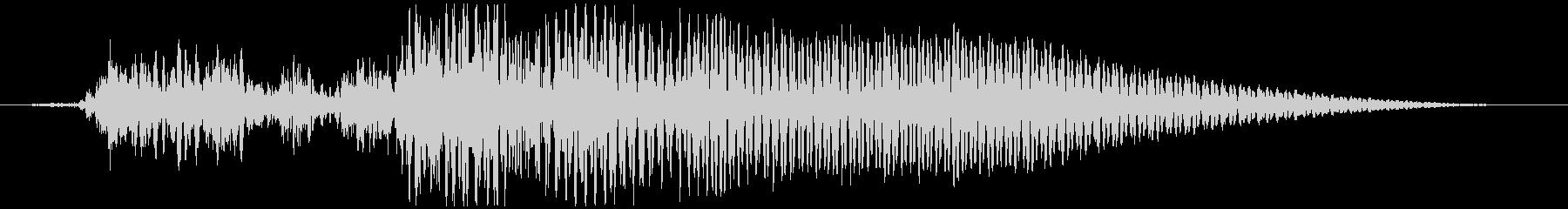 ドルルルブオーン(生録音)の未再生の波形