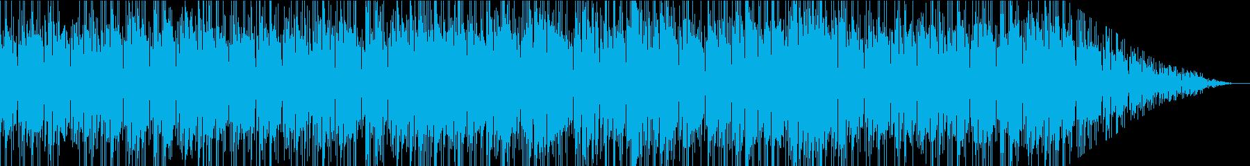 落ち着いたた雰囲気のお洒落なBGMの再生済みの波形