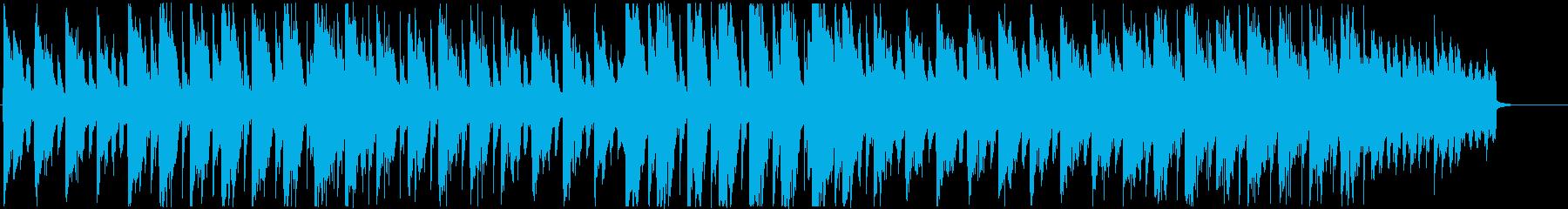 おしゃれで雰囲気のあるハウス風BGMの再生済みの波形