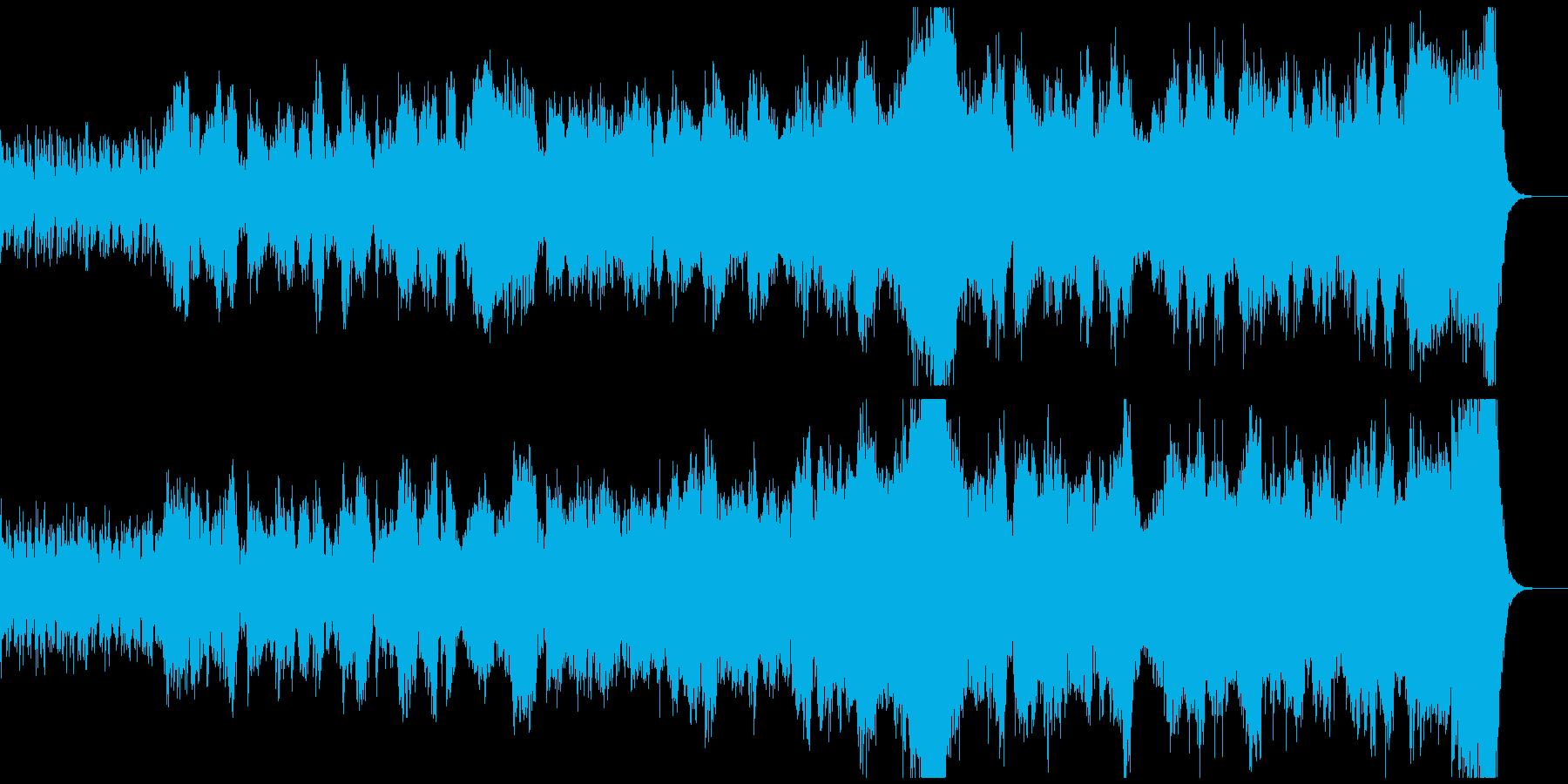 ソロバイオリンのスペクタクルなOPの再生済みの波形