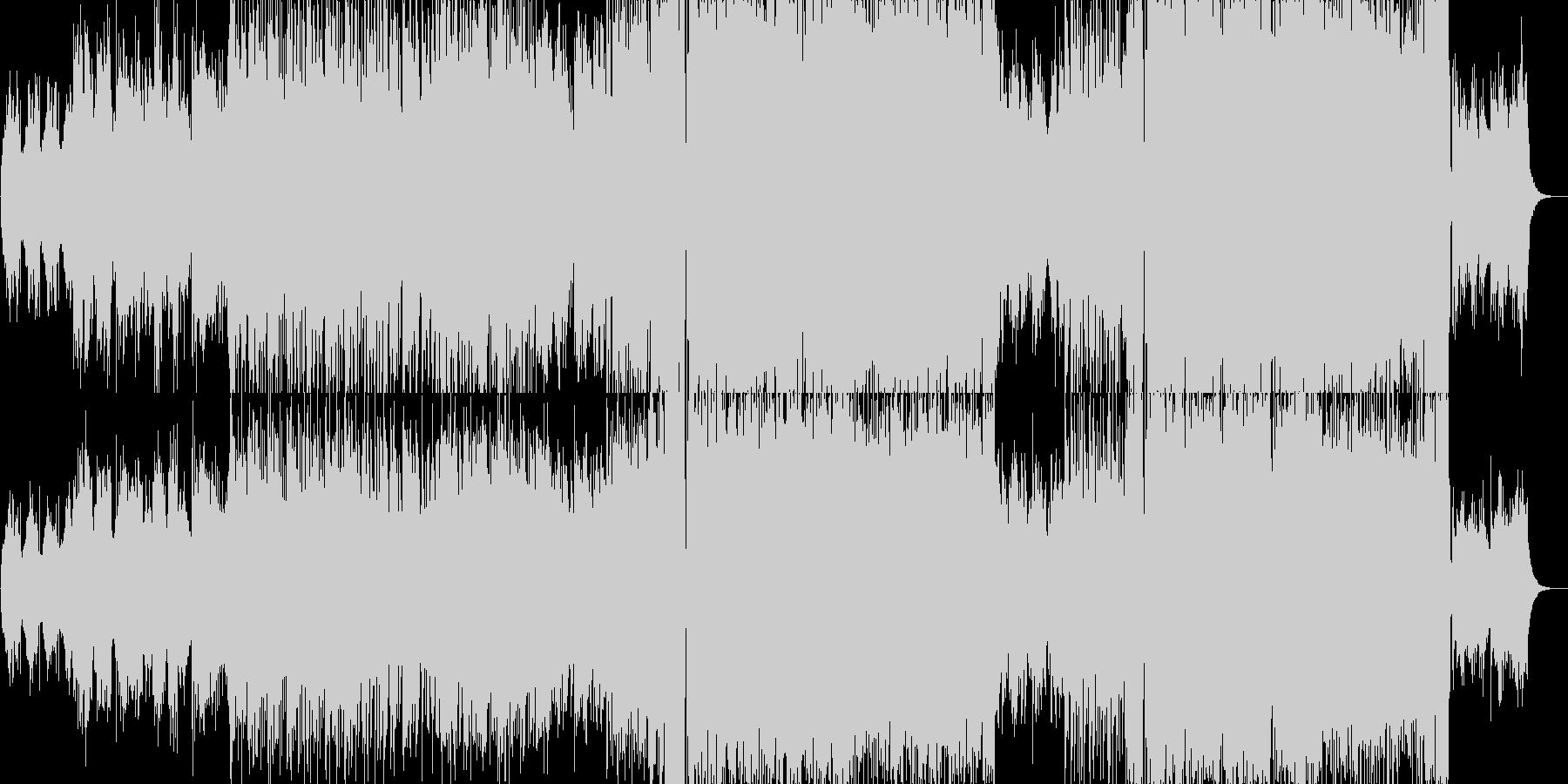 アップテンポロックの未再生の波形