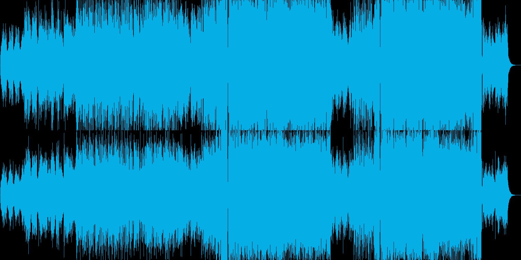 アップテンポロックの再生済みの波形