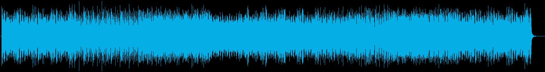 現代的で明るいテクノポップの再生済みの波形