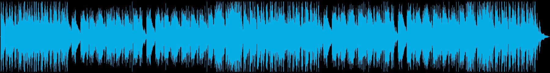 落ち着いた浮遊感のあるピアノBGMの再生済みの波形