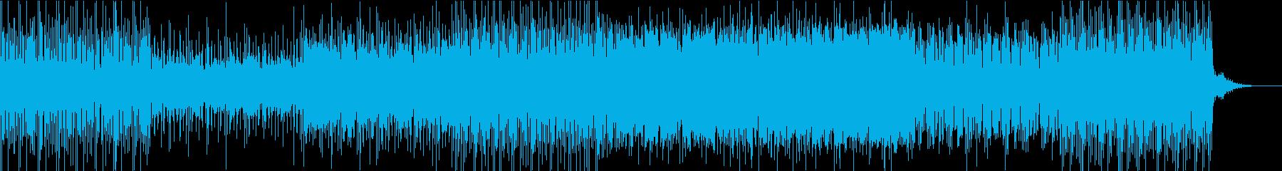 牧歌的シンセサイザーミュージックの再生済みの波形