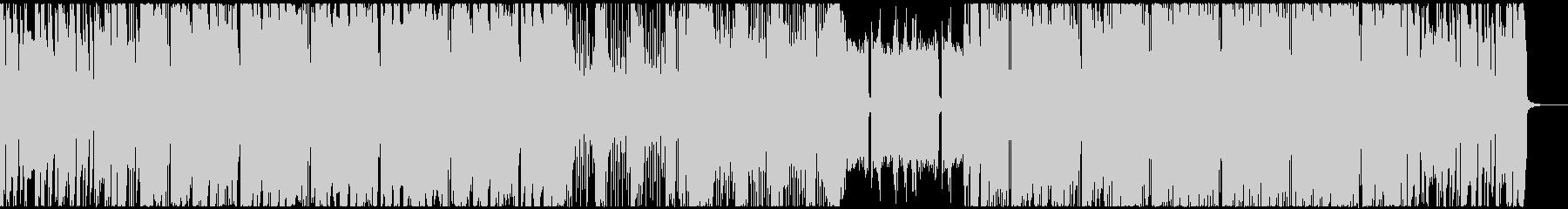エレキギター主役のパワフルなロックBGMの未再生の波形