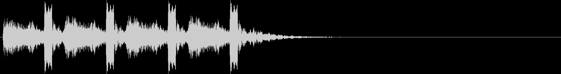 鳩時計 ポッポーポッポーポッポーポッポーの未再生の波形