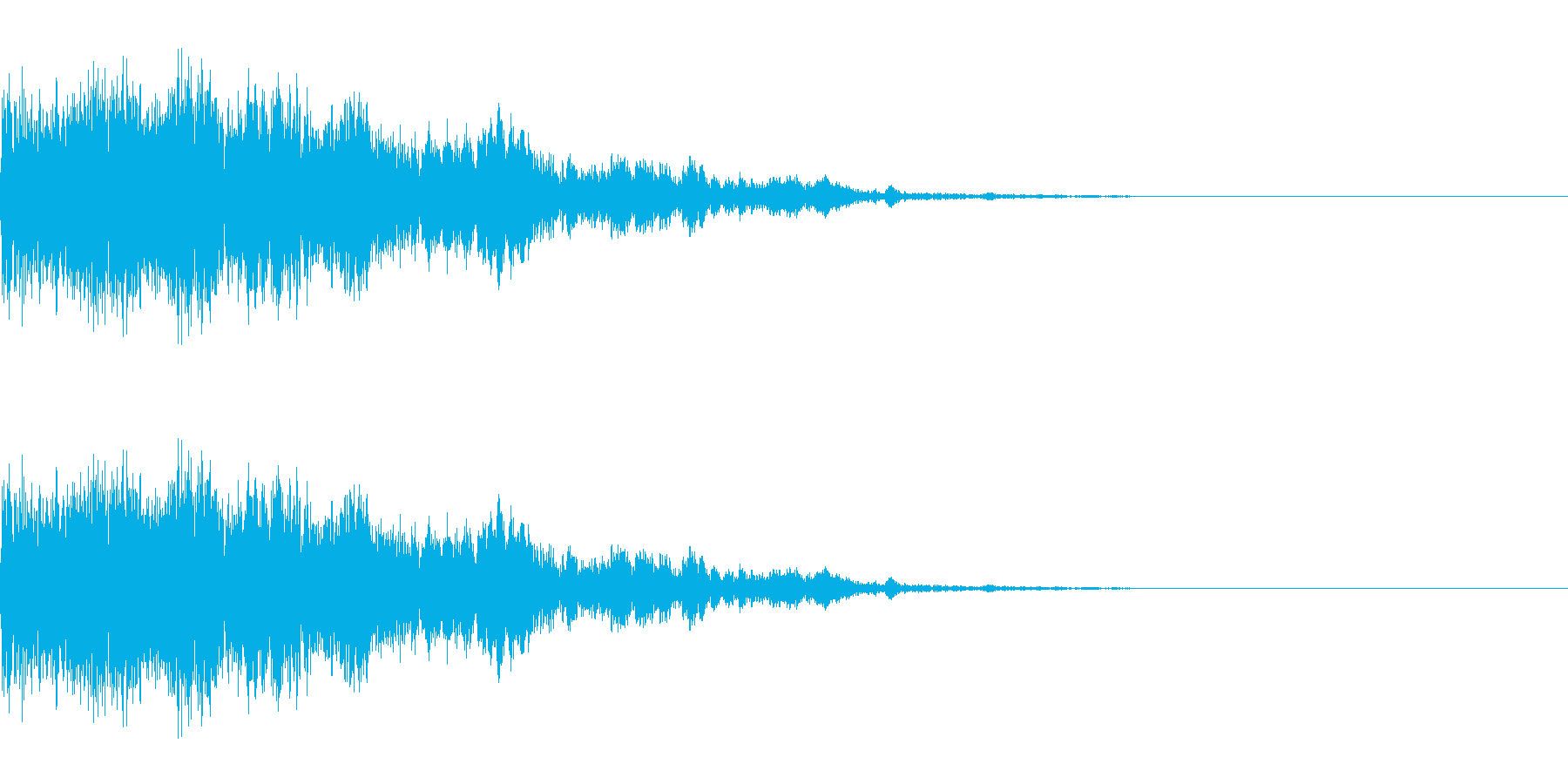 ピキーンという少し強めの音です。の再生済みの波形