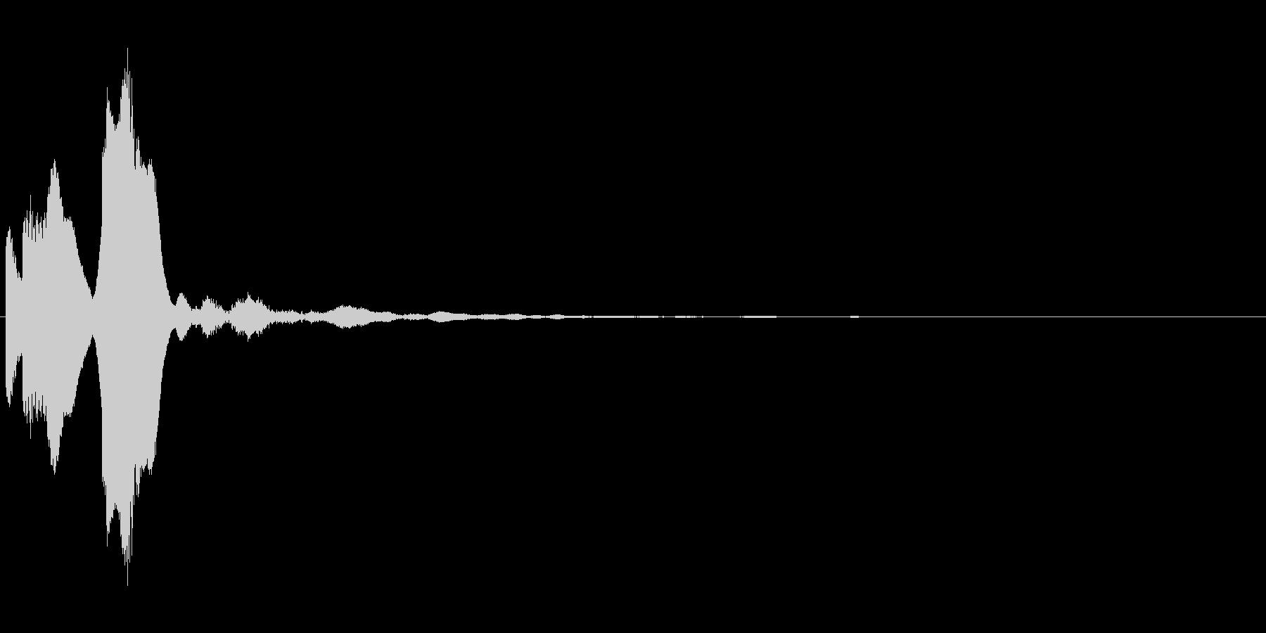 タッチ,クリック音(ピコン)の未再生の波形