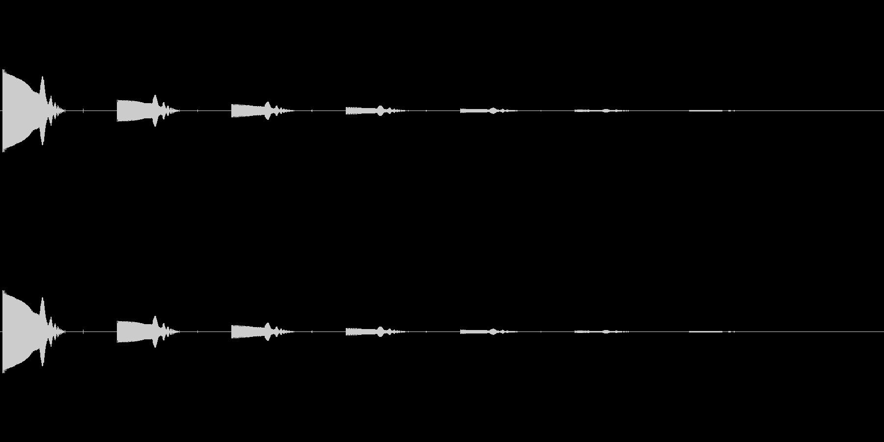 パッパッパ(8bit/ノイズ/弾/攻撃の未再生の波形