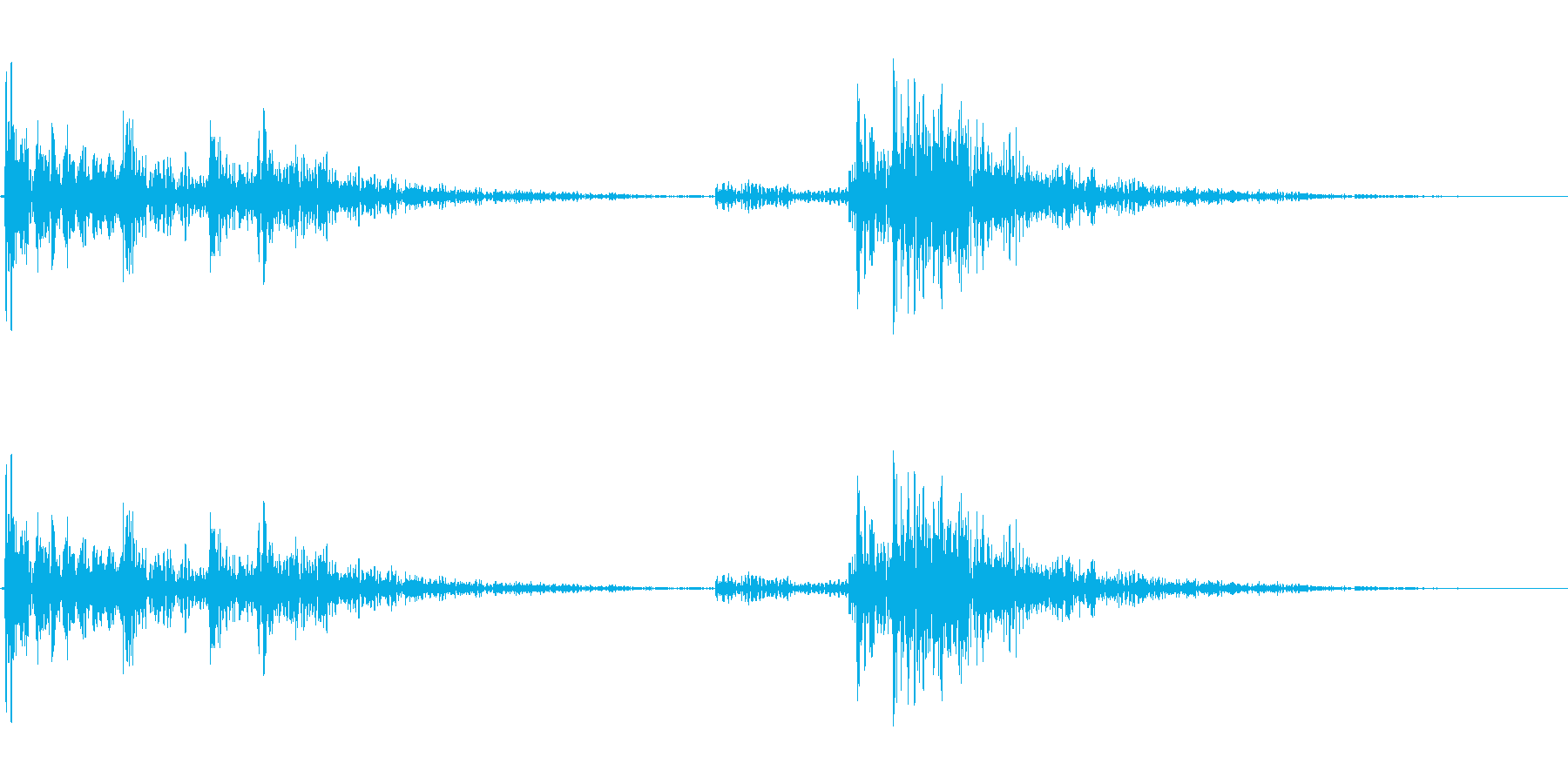 【生録音】ドームカバー・クロッシュの音の再生済みの波形