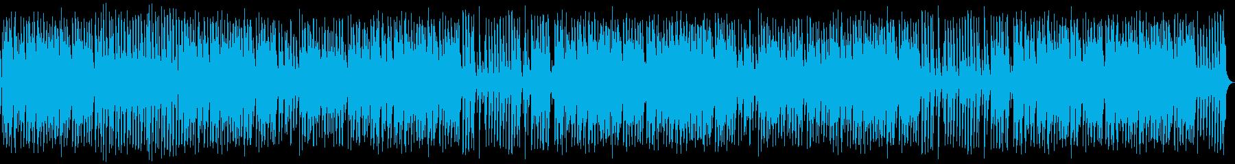 ウォーキング、ベース、ピアノ、ギタ...の再生済みの波形