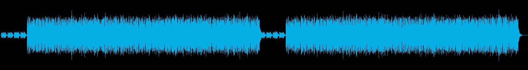 深い青を連想させるテクノポップの再生済みの波形