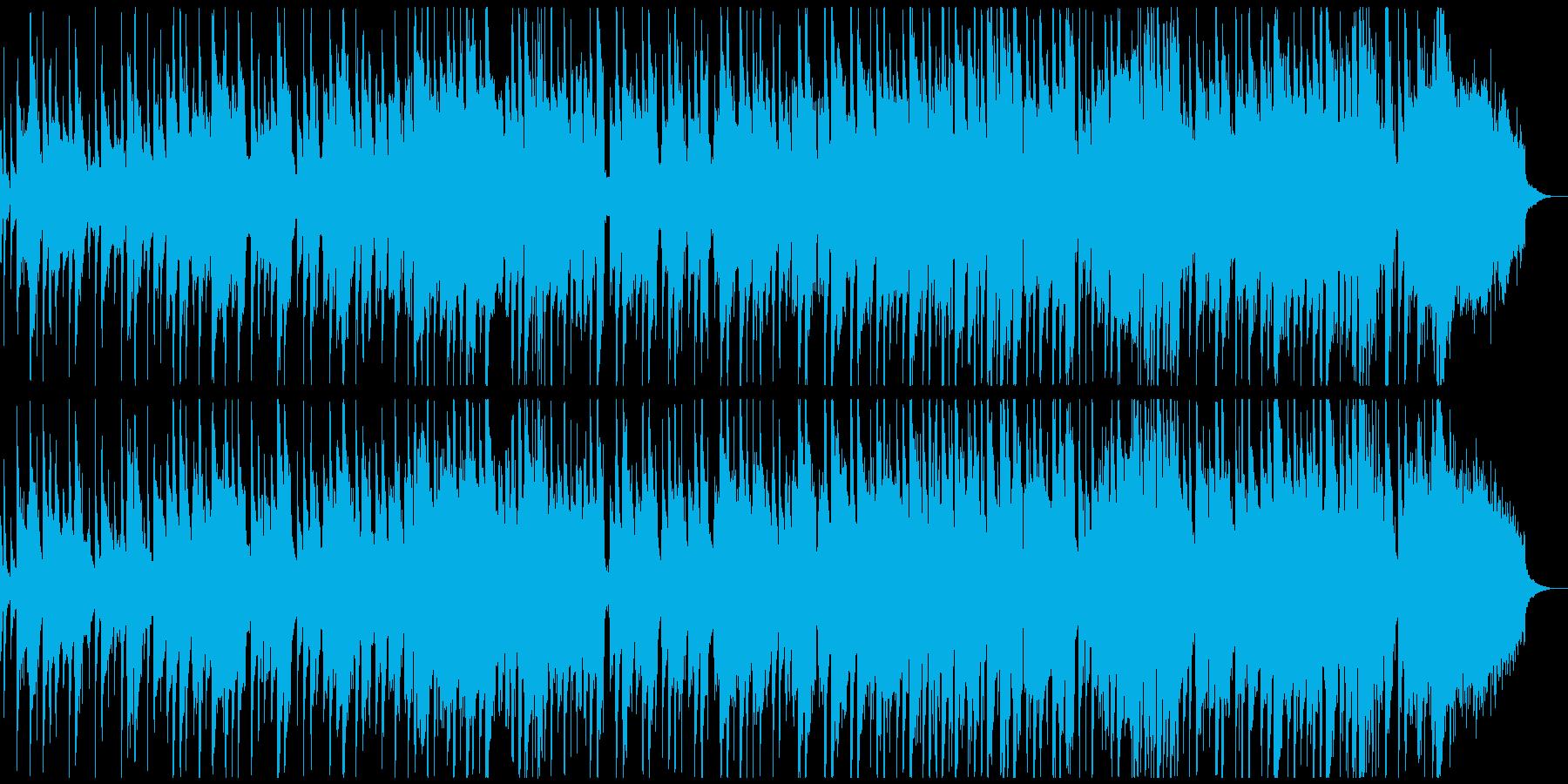 ピアノバンドのご機嫌なスムースジャズの再生済みの波形