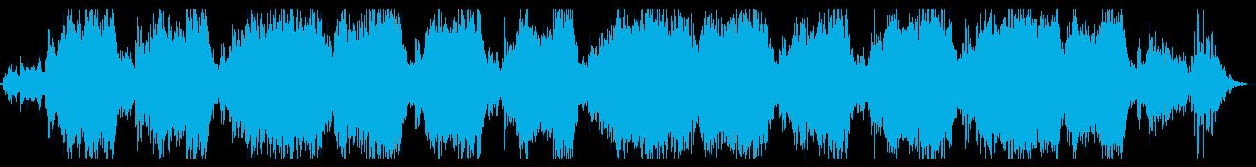 ミステリアスなシネマチックBGMの再生済みの波形