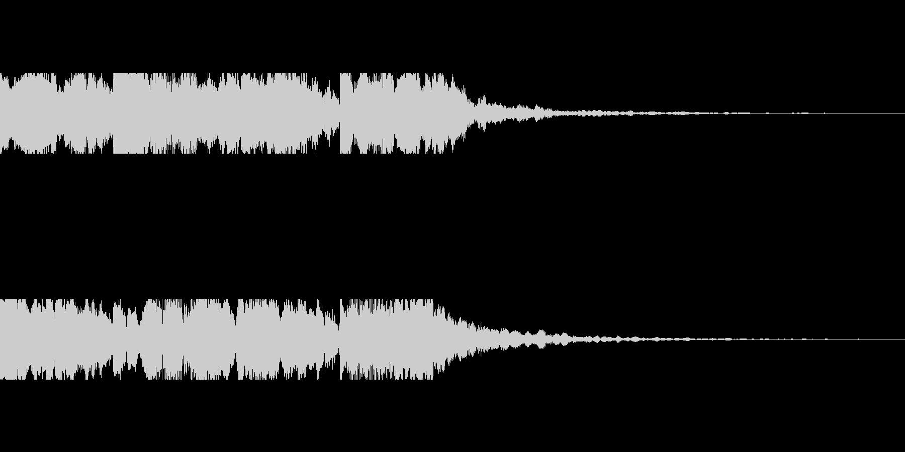 近未来を想像し発展する音の未再生の波形