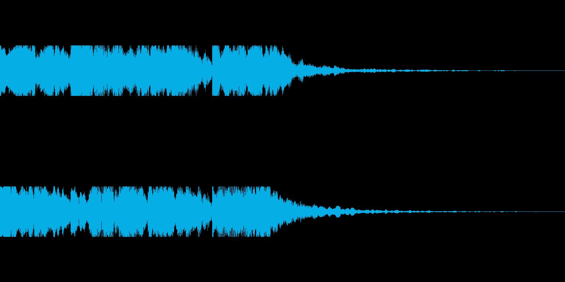近未来を想像し発展する音の再生済みの波形