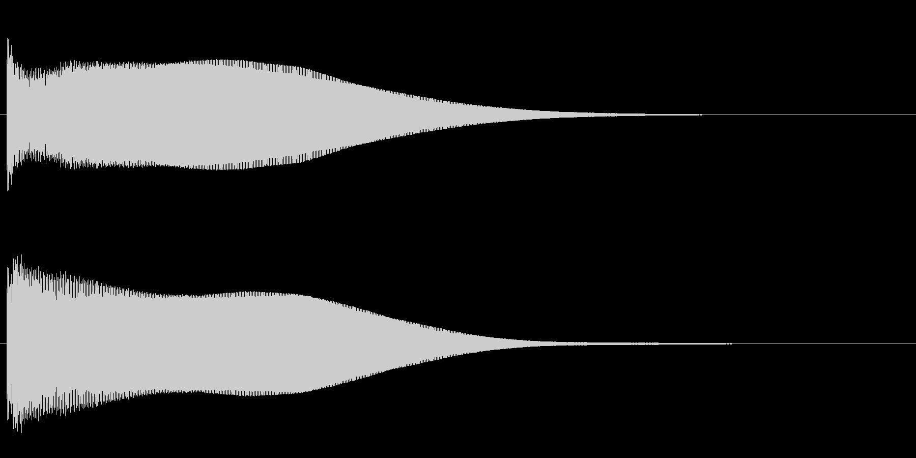 ピーン(エレベーター到着音2)の未再生の波形