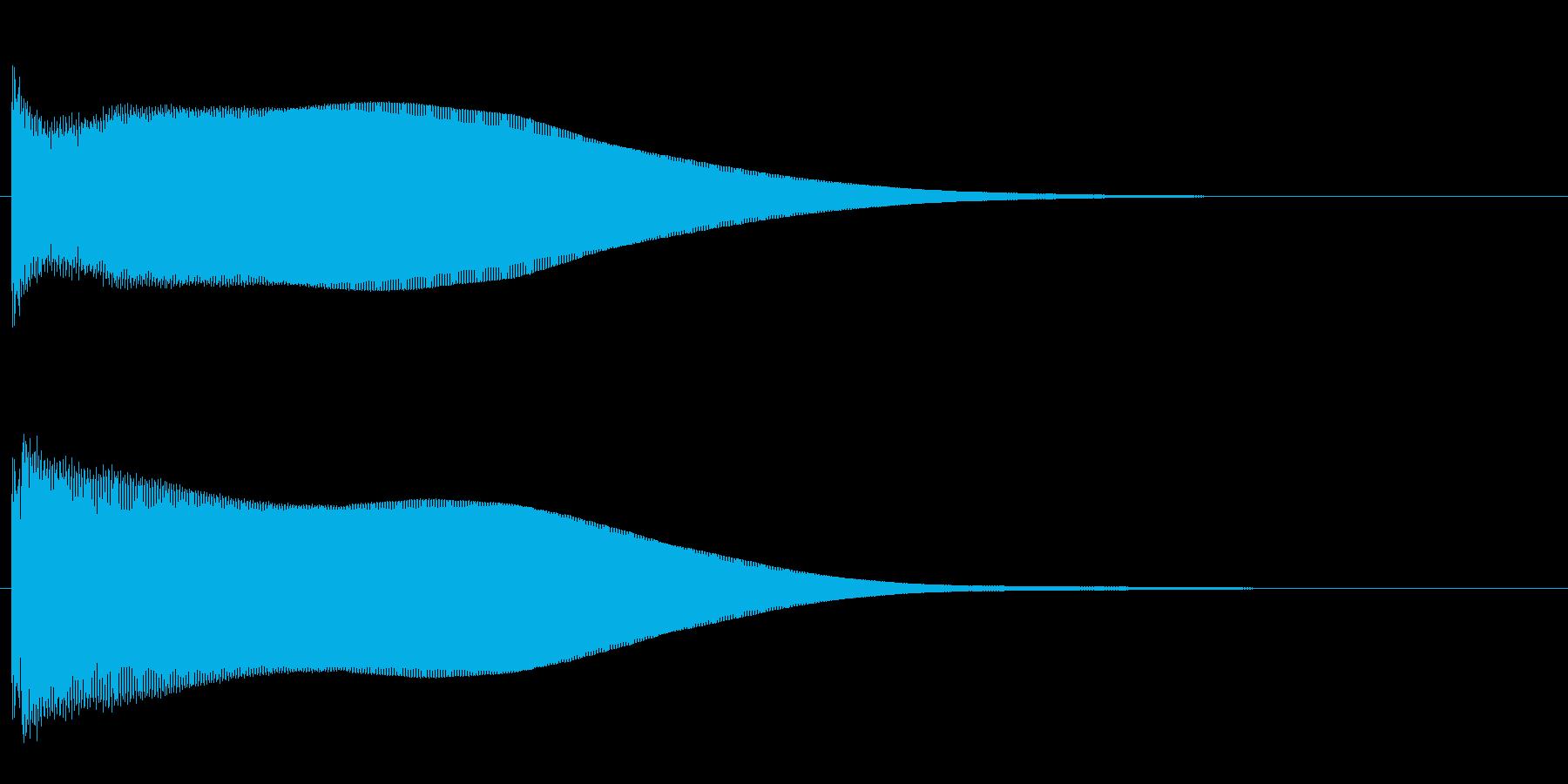 ピーン(エレベーター到着音2)の再生済みの波形