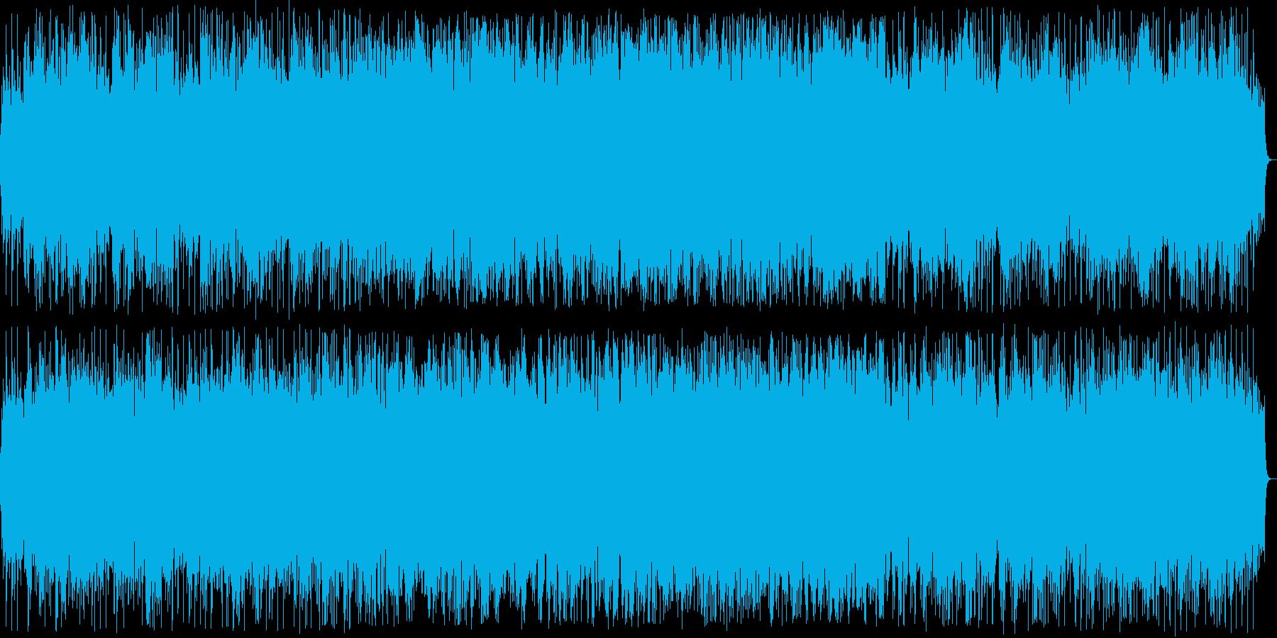 おめでたい印象のシンセサイザーサウンドの再生済みの波形