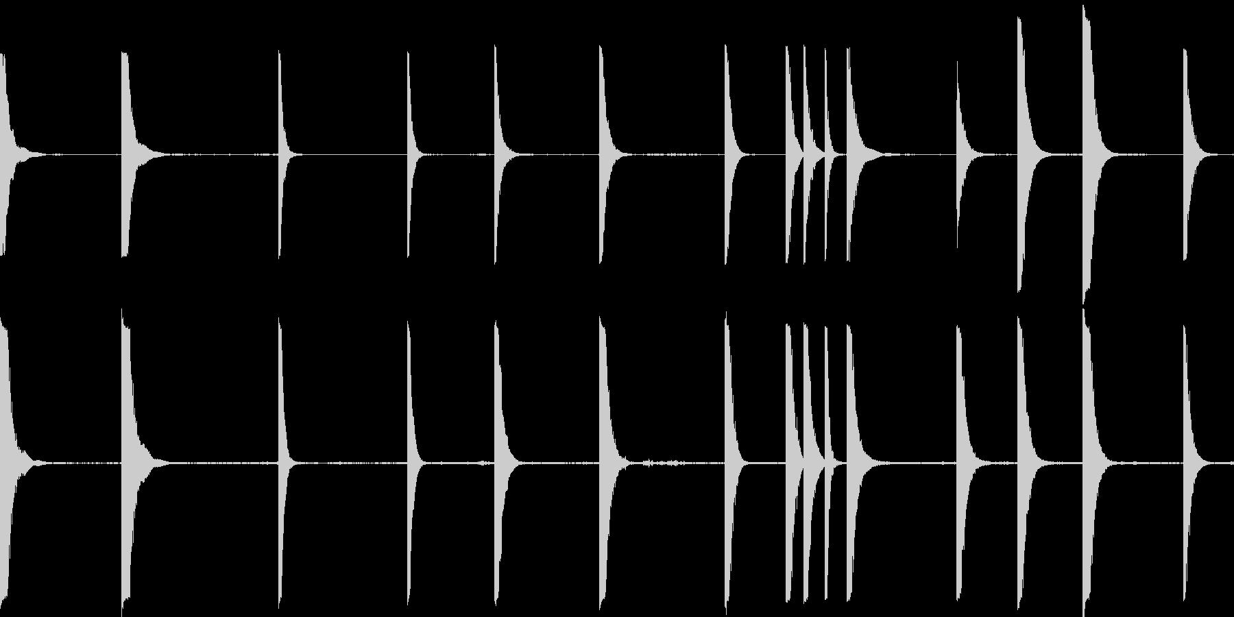金属のクランクは様々なヒットの未再生の波形