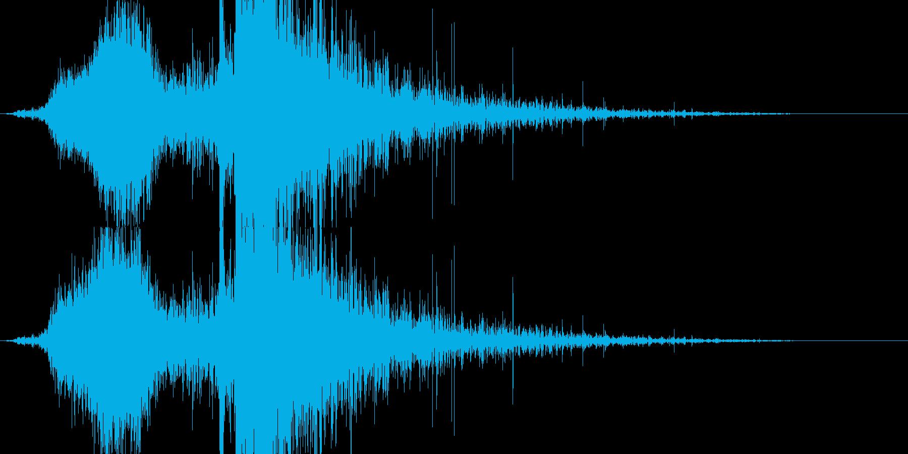 RPG系魔法イメージ音02 炎の再生済みの波形