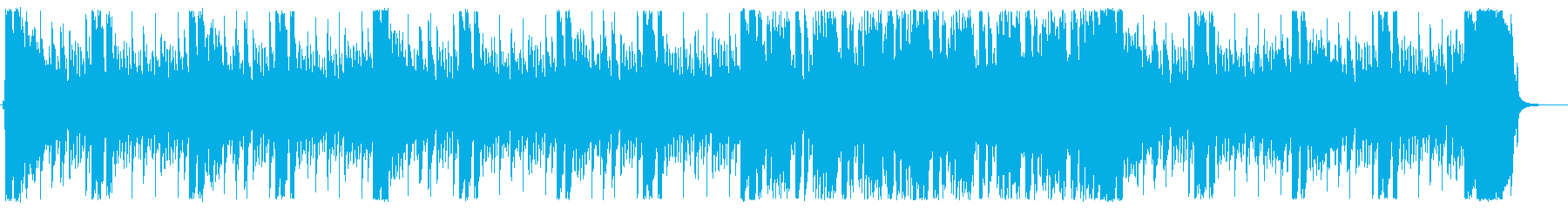 サイバーテイストのギターロックの再生済みの波形