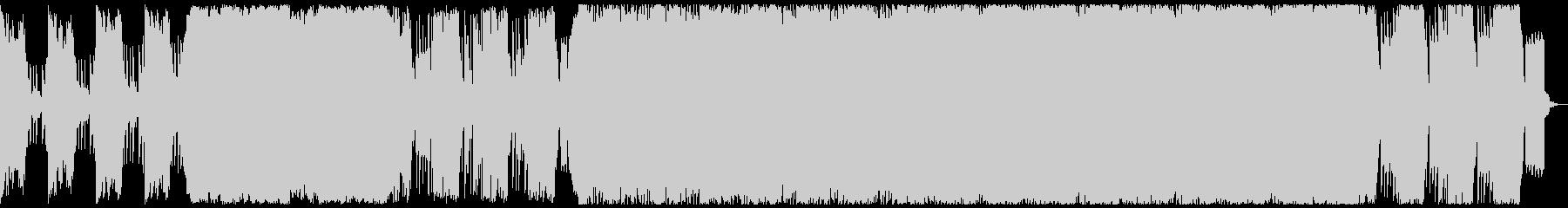 始まりを予感させるシンセ&クラシック曲の未再生の波形