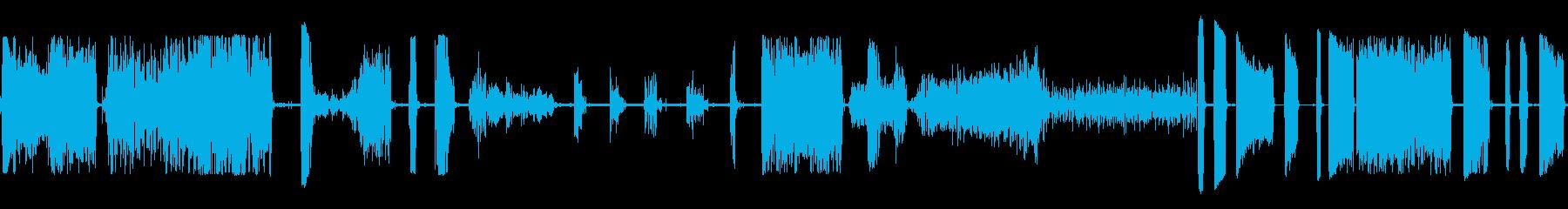 水面エアツールドリルの再生済みの波形