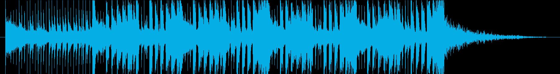 せわしないファンキーなブルースロック☆の再生済みの波形