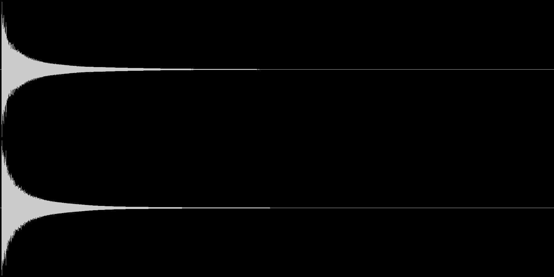 トライアングル チーンの未再生の波形