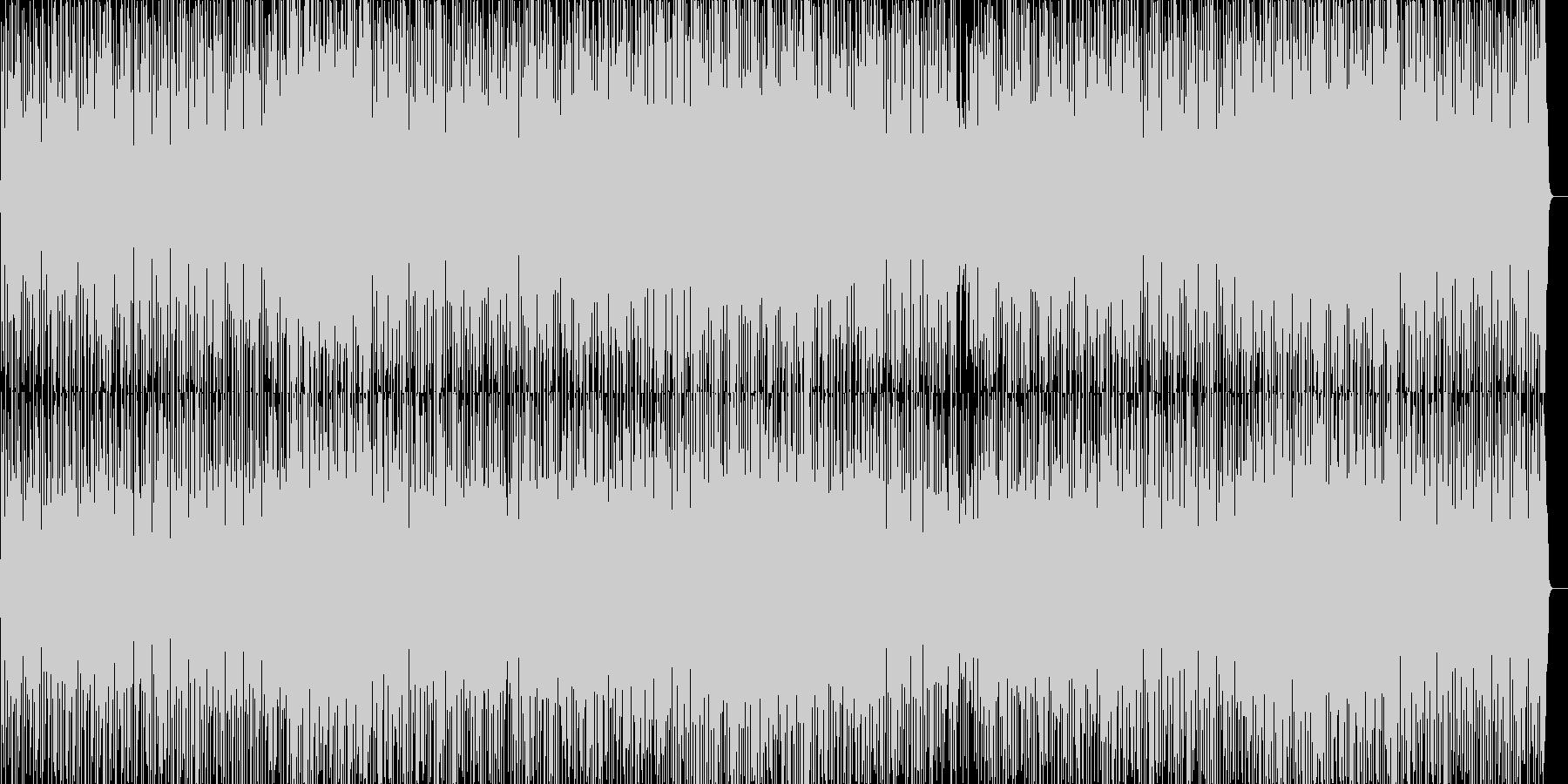 ファンキーで明るいノリのよいグルーヴの未再生の波形