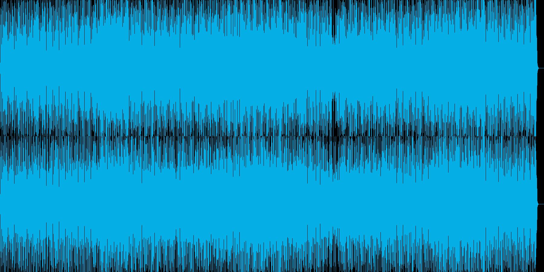 ファンキーで明るいノリのよいグルーヴの再生済みの波形