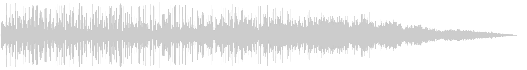排水溝に吸い込まれる音の未再生の波形