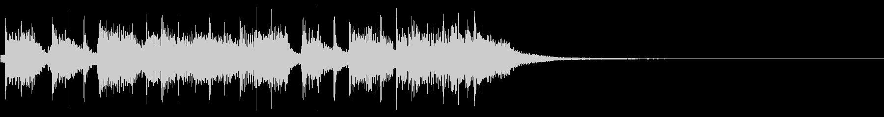 インパクトあるロックなジングル22の未再生の波形