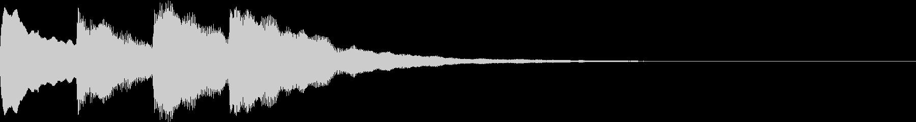 アナウンスの開始音 01の未再生の波形