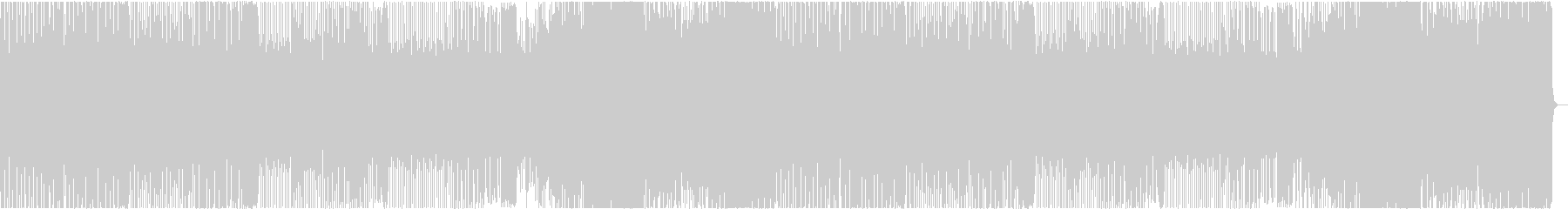 少し奇妙なエレクトロ系の楽曲の未再生の波形