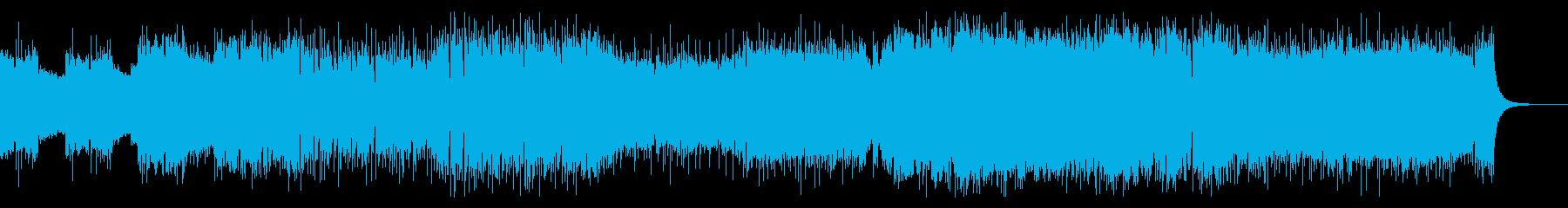 スリリングでプログレッシブなハードロックの再生済みの波形