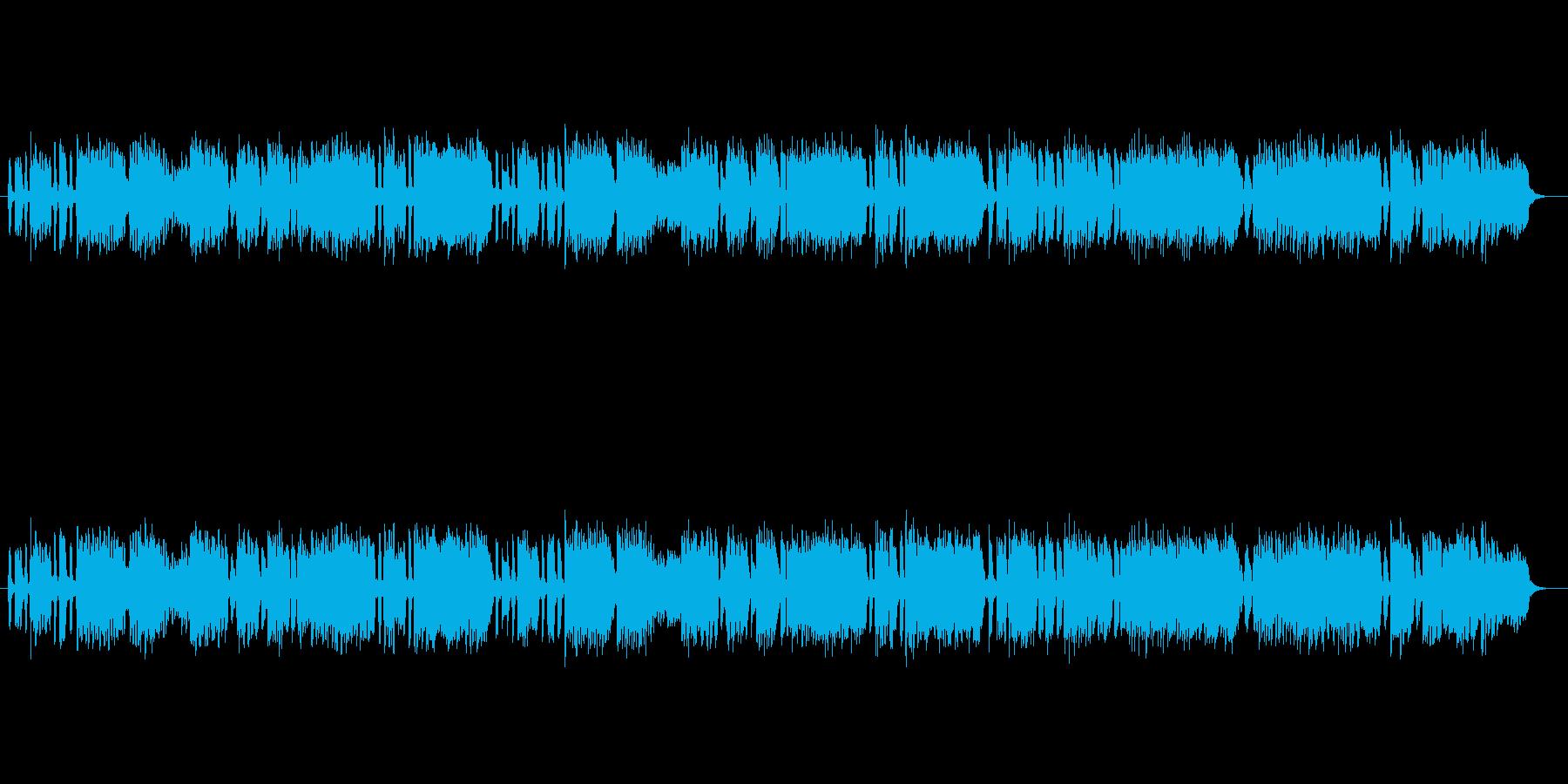 バッハ無伴奏ヴァイオリンのジークの再生済みの波形