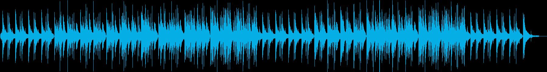 月明かりをイメージしたスローピアノワルツの再生済みの波形