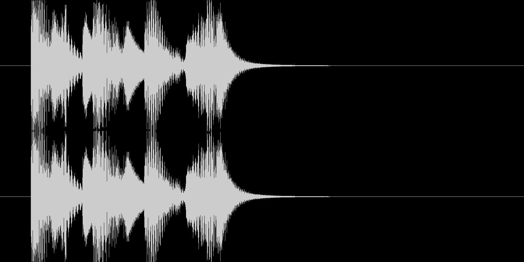 マリンバと8bitシンセのジングルの未再生の波形