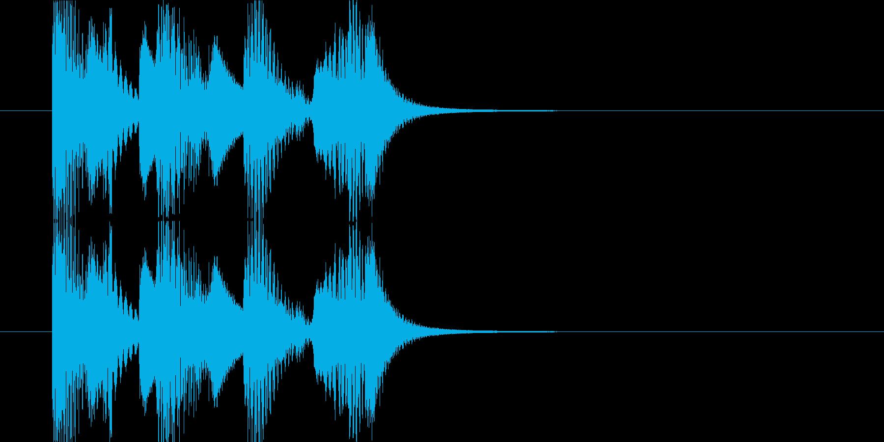 マリンバと8bitシンセのジングルの再生済みの波形
