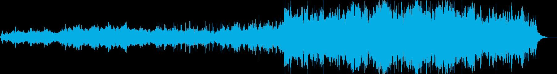 穏やかな波をイメージしたアンビエント曲の再生済みの波形