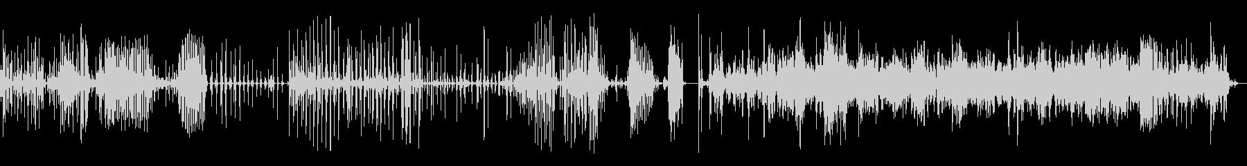 ブラッシングティースバスルームの未再生の波形