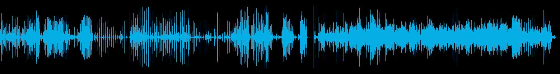 ブラッシングティースバスルームの再生済みの波形