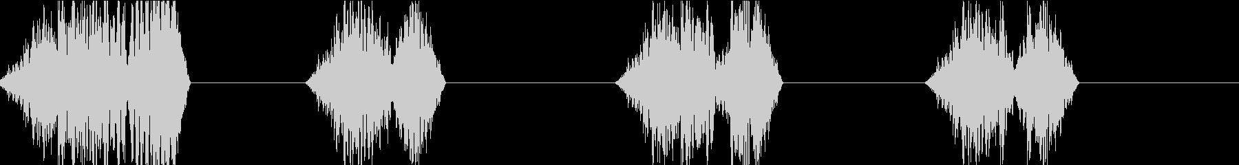 DJプレイ スクラッチ・ノイズ 190の未再生の波形
