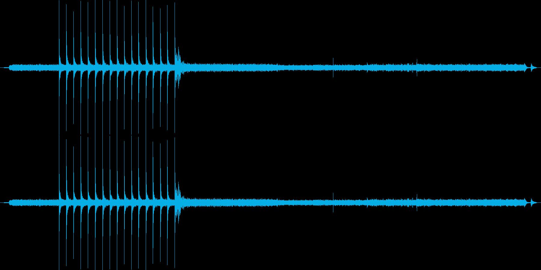 家庭 ガスストーブホブ点火闘争01の再生済みの波形