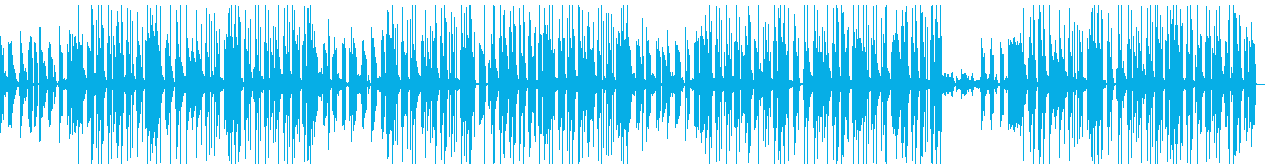 シンセを使ったユーモラスな雰囲気のBGMの再生済みの波形